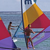 Crowded windsurfing