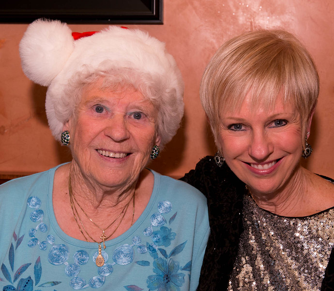 Joan with daughter Janet - always welcomed guests!