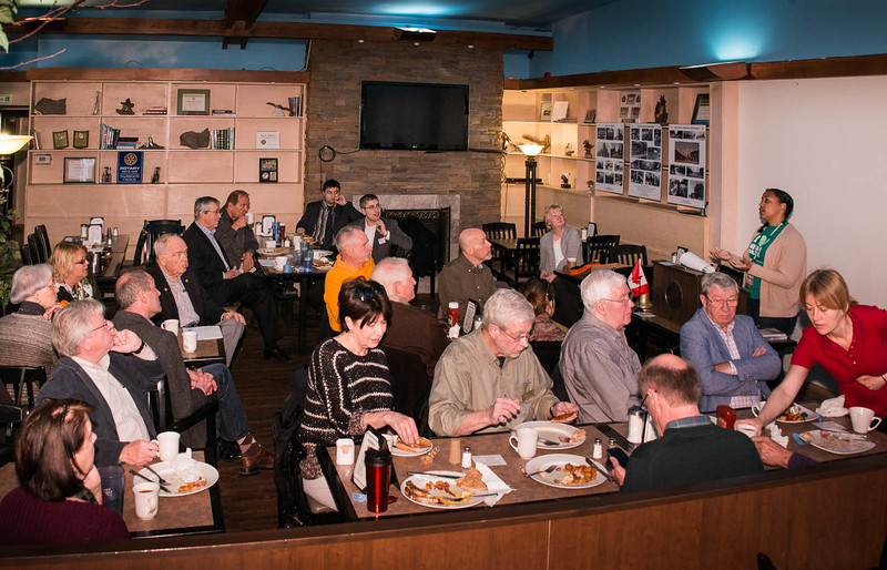 April 28, 2016 - Our club visits Rotary Parkdale-High Park for breakfast at the Grenadier Restaurant in the park.