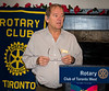 "RTW President Brian Spencer welcomes members to our monthly ""business"" meeting - this one being dedicated to a debriefing by the six who attend the Rotary 7070 District Assembly"