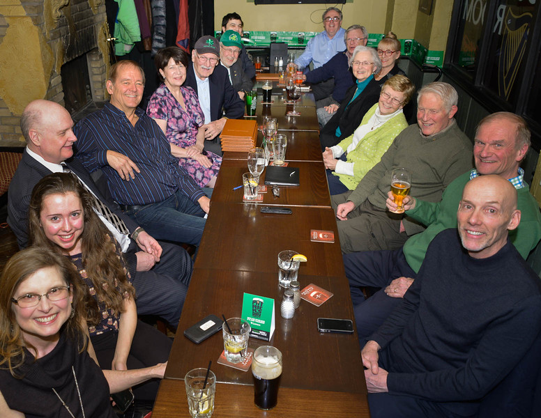 28 members, spouses and friends packed the pub's private room to welcome Jeanne Corrnacchia, pictured 5th on the left.