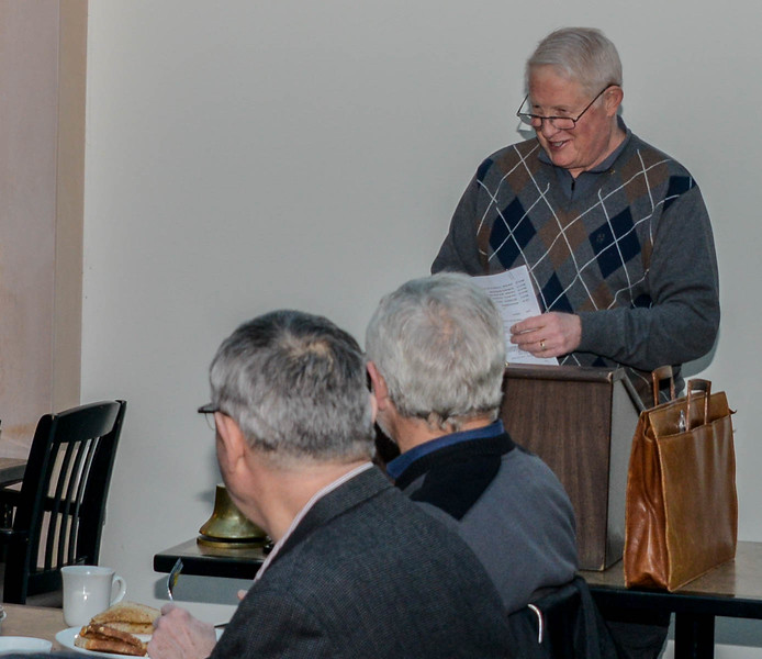 Bob Sexton introduced our guest speaker, Bill Cheshire, who spoke on his battle with Hydro One over rates.