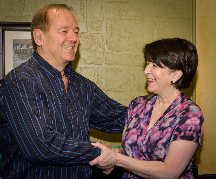 Club President Brian Spencer inducts and then welcomes Jeanne  Cornacchia to our club