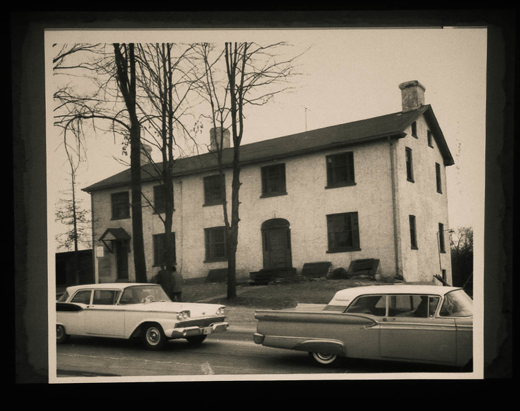 """All Inns of the time were of a very similar """"distinctive"""" design so they could be easily identified as an Inn to travelers entering town. This one, located on Bloor Street, is of the same design as the Montgomery's Inn on Dundas Road."""