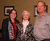 Rotary District 7070 Assistant Governor Mary Lou Harrison with new member Linda  and President Brian