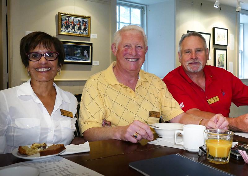 Yasmin, Bob and Doug enjoying breakfast.