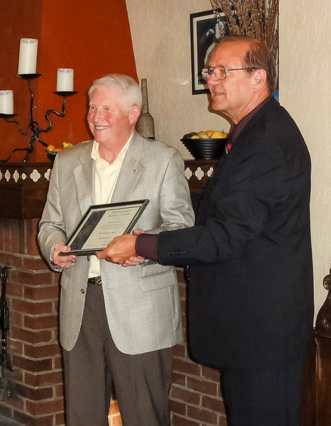Bob Sexton receives a Distinctive Service Citation