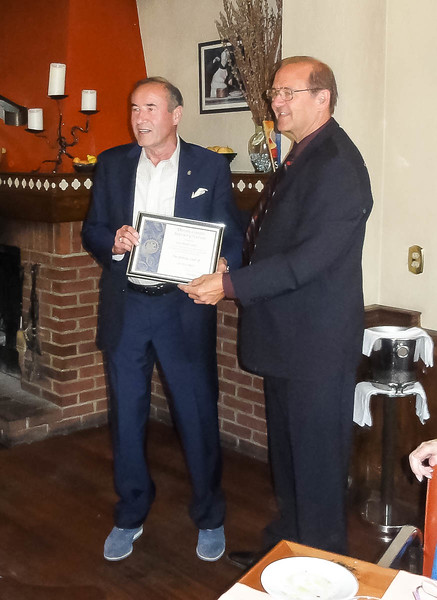 Gaston Bottero receives a Distinctive Service Citation