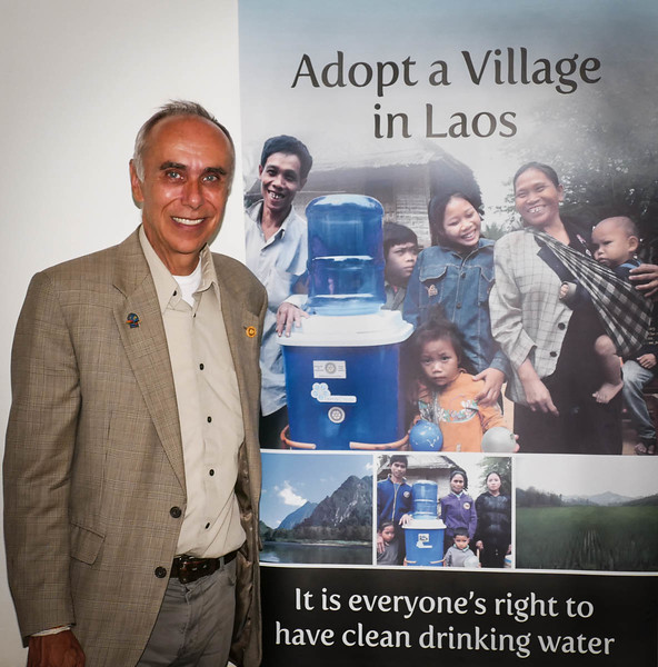 Steve Rutledge, President of 'Adopt a Village in Laos' explained how this war torn country  still suffers from the aftermath of the Vietnam war, and in particular, disease caused by lack of clean water and sanitation issues.