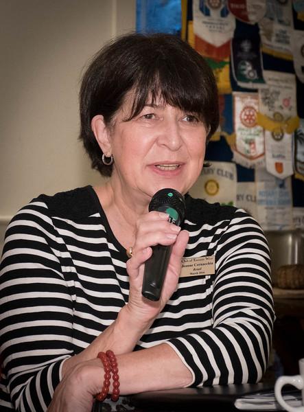 RTW member Jeanne C posing a question.
