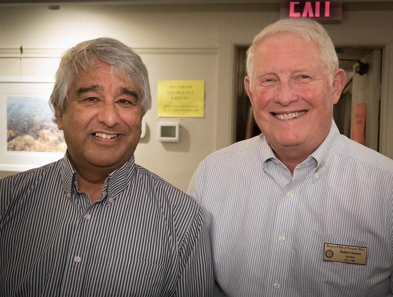 Richard receiving a thank you from program director Bob S.