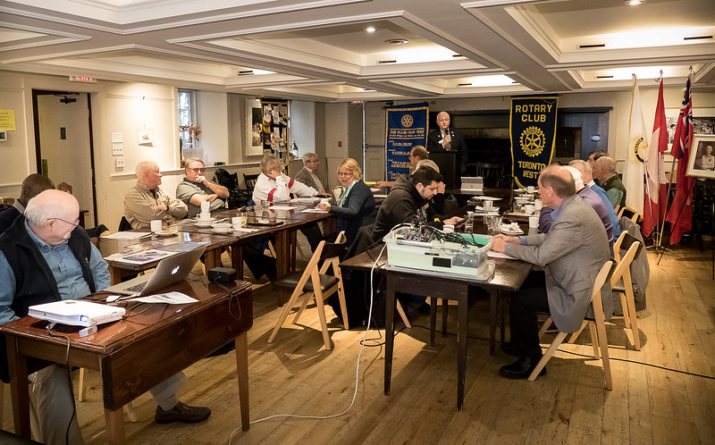 Rotary Toronto West Breakfast meeting at The Montgomery's Inn
