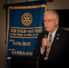 Past District Governot Michael Bell gave us an update on the Rotary Foundation objectives and achievements.