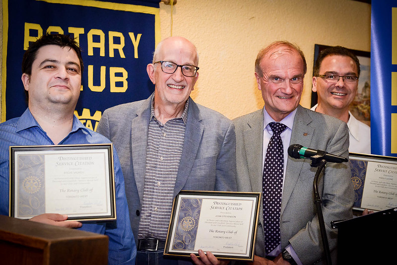 """Several other members received Distinguished Service Citations for their devoted and unselfish """"Service Above Self"""" to the Club and the Community."""