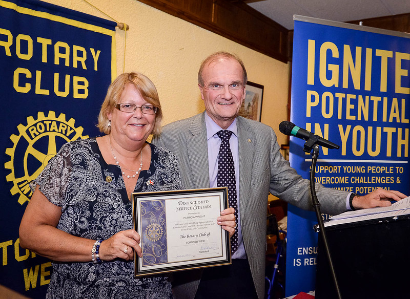 Past President Patti Wright also received a distinguished Service Citation for her tremendous extra efforts on many programs over the past year.
