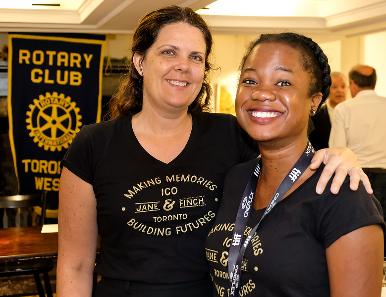 Our guest speaker Jennifer with her volunteer co-worker Dami Sodonwale posing for a quick grab shot. Dami has recently graduated from a business program at York U.