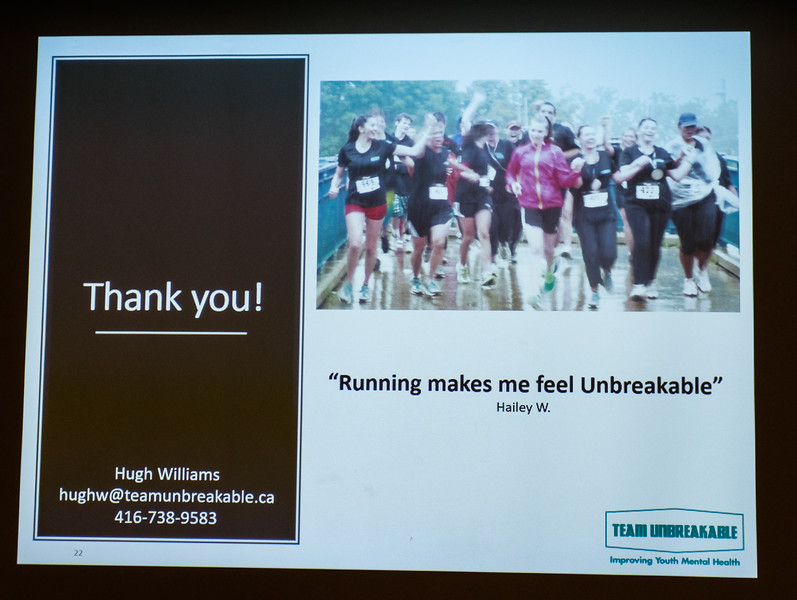 """The name """"Team Unbreakable"""" was inspired by this comment by Hailey who felt  """"unbreakable"""" following her  new-found and empowering running regime."""