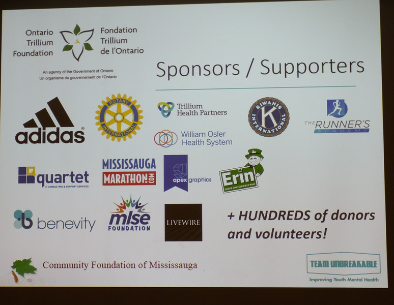 The program is supported by the generous donations made by these many sponsors.