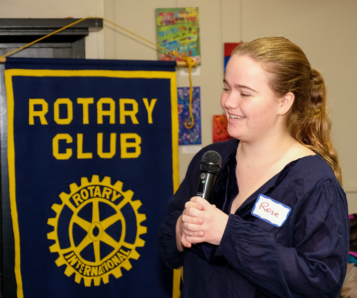 Rose Shaver joined us for breakfast.  She is our clubs selection for the Rotary Student Exchange program.