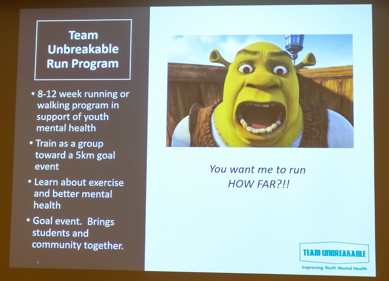 Exercise can educate about and improve mental health and encourage fellowship.