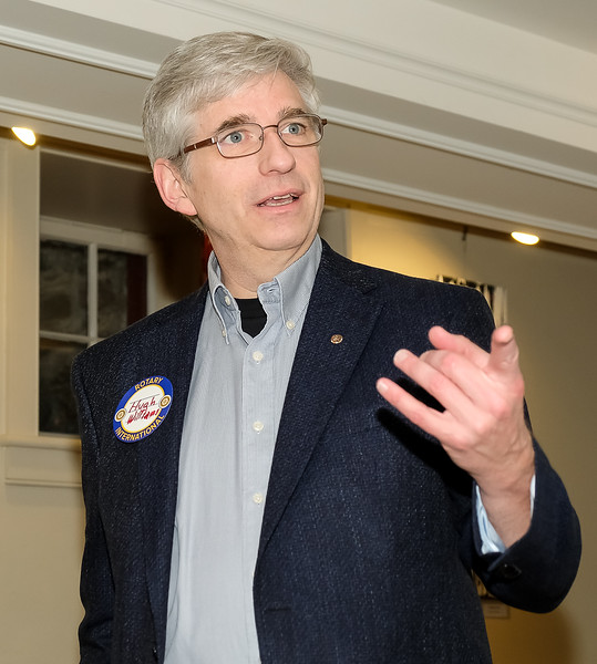 """Our guest speaker Hugh Williams then gave us a 20 minute presentation on """"TEAM UNBREAKABLE"""" Hugh is a communications consultant, and is one of the founders of TEAM UNBREAKABLE which was started 10 years ago. This organization encourages the approach of """"Physical Health for Mental Health"""""""