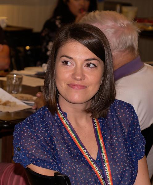Guest Lauren McCallum joined us for Breakfast. Lauren works for the City of Toronto's historic Montgomery's Inn, where we meet each week.
