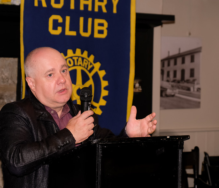 Stephen welcomed our guests and then outlined his goals and aspirations for the club this year.