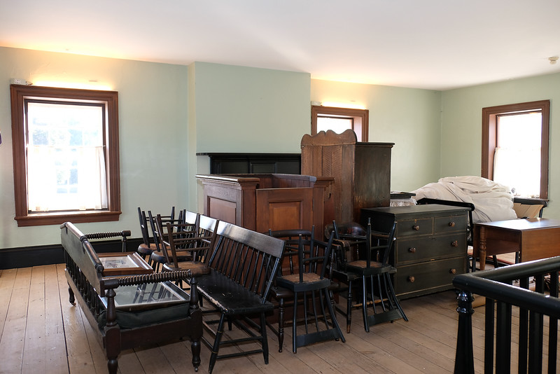 Much of the furnishings have been relocated for stowage while restoration and painting is underway.