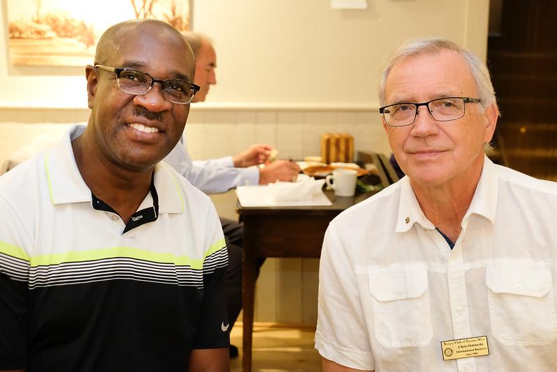 Guest Jeff Ndhlovu and RTW member Chris Ostrovski