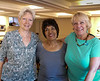 """Robyn, Joy and Susan sharing a """"photo op"""" moment before parting."""