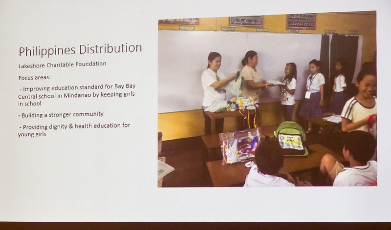 Thousands of kits are sent to schools in SE Asia and Africa. Without this help, it was common for young girls to miss out on several days of important schooling.