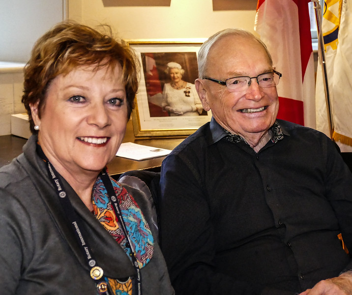 Bess Selby and husband Barry Vail  joined us for breakfast, hailing from the Rotary Club of Coburg.