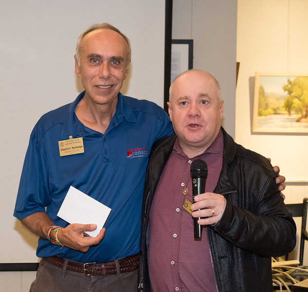 """Stephen thanked Steve for a terrific presentation, echoed by members during our """"Happy Buck"""" session."""