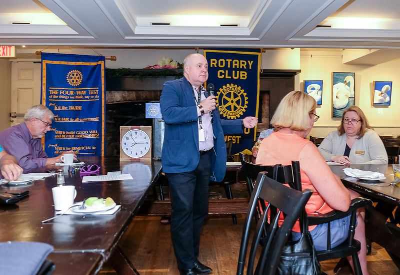 Past President Stephen Thiele gave a few reminders of  many upcoming events and activities.