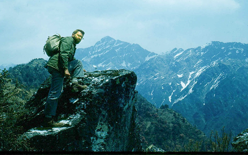 Through some rugged country we climbed to between thirteen and fourteen thousand feet, confirmed after I returned to Kathmandu when I described the flora and fauna of this area to Dr. Robert Flemming, who was familiar with Nepal's geography. We were close to the tree line.