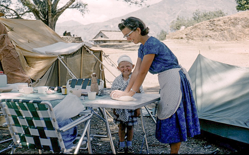 We camped here for several days giving Betty Anne some time to do some baking. She brought a portable oven and a pressure cooker which greatly facilitated our meal preparation. With the help of her cook, we ate very well on this trip
