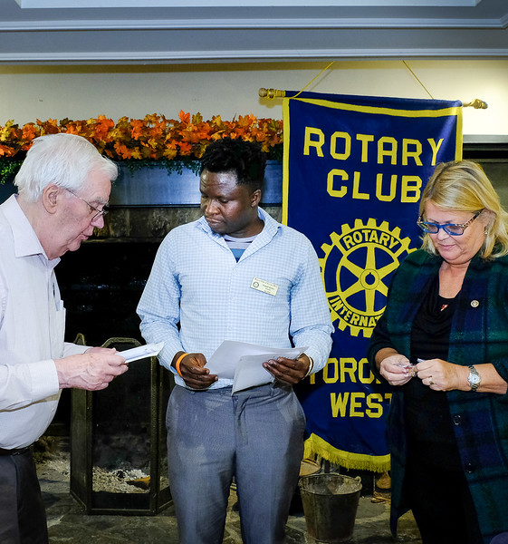 Willis gave a welcome to our two inductees and Patti presented them with a pin and certificate of membership.