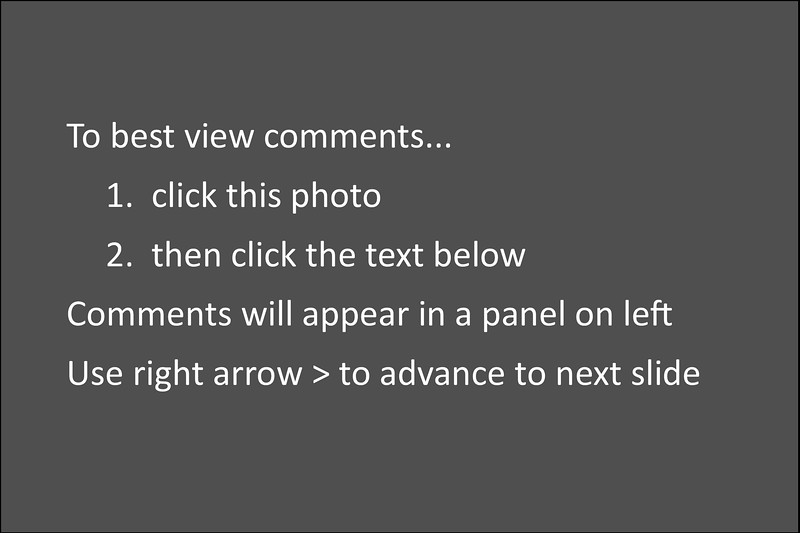 CLICK HERE.......Comments will appear here.  To advance,  click arrow at far right, or swipe image to left on an iPad.