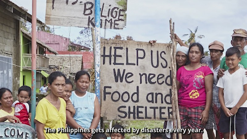 Rotary Clubs helps ShelterBox with disasters in the Philippines