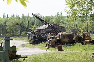 Chernobyl heavy machinery