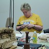 Susan busy power carving turtles