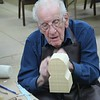 Milt working on a European bust
