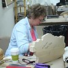 Ann hard at work on an American Farmhouse relief