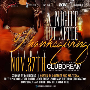 Club Dream 11-27-15 Friday