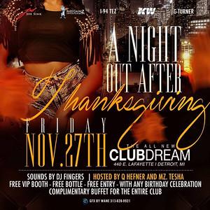 Club Dream 11-27-15 Friday