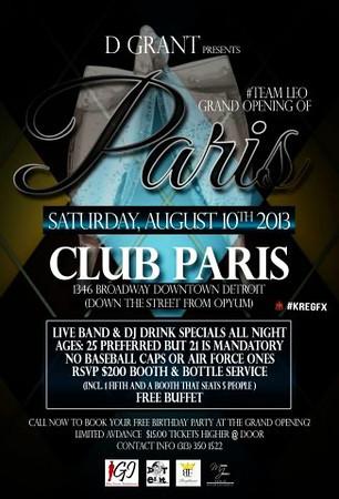 Club Paris 8-10-13 Saturday