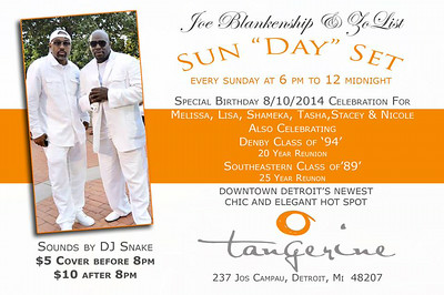 Tangerine 8-10-14 Sunday
