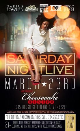 Cheesecake Bistro 3-23-13 Saturday