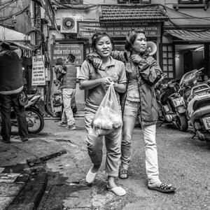 Shoppers in Old Town Hanoi