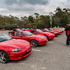 MX-5s Gathering For Run To Josef Chromy Winery For Natmeet Display